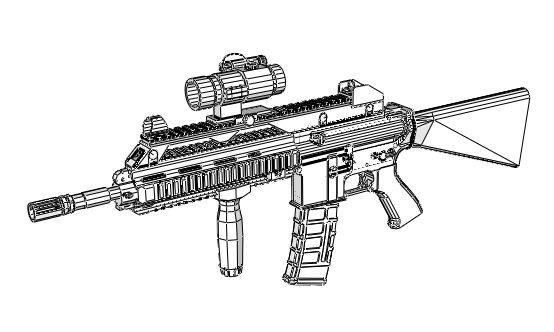 Rifle Drawing