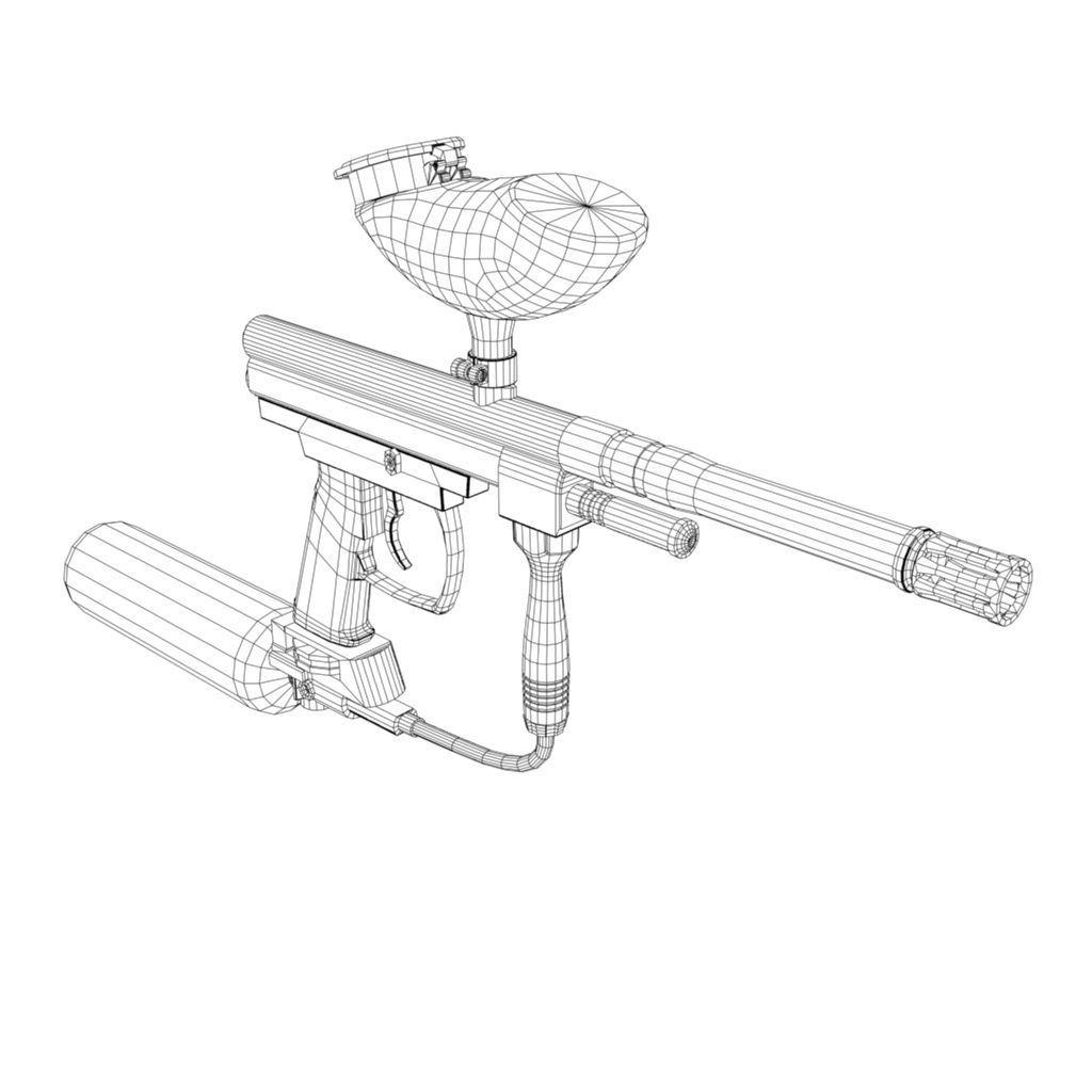 1024x1024 Spyder Paintball Gun 3d Asset Cgtrader