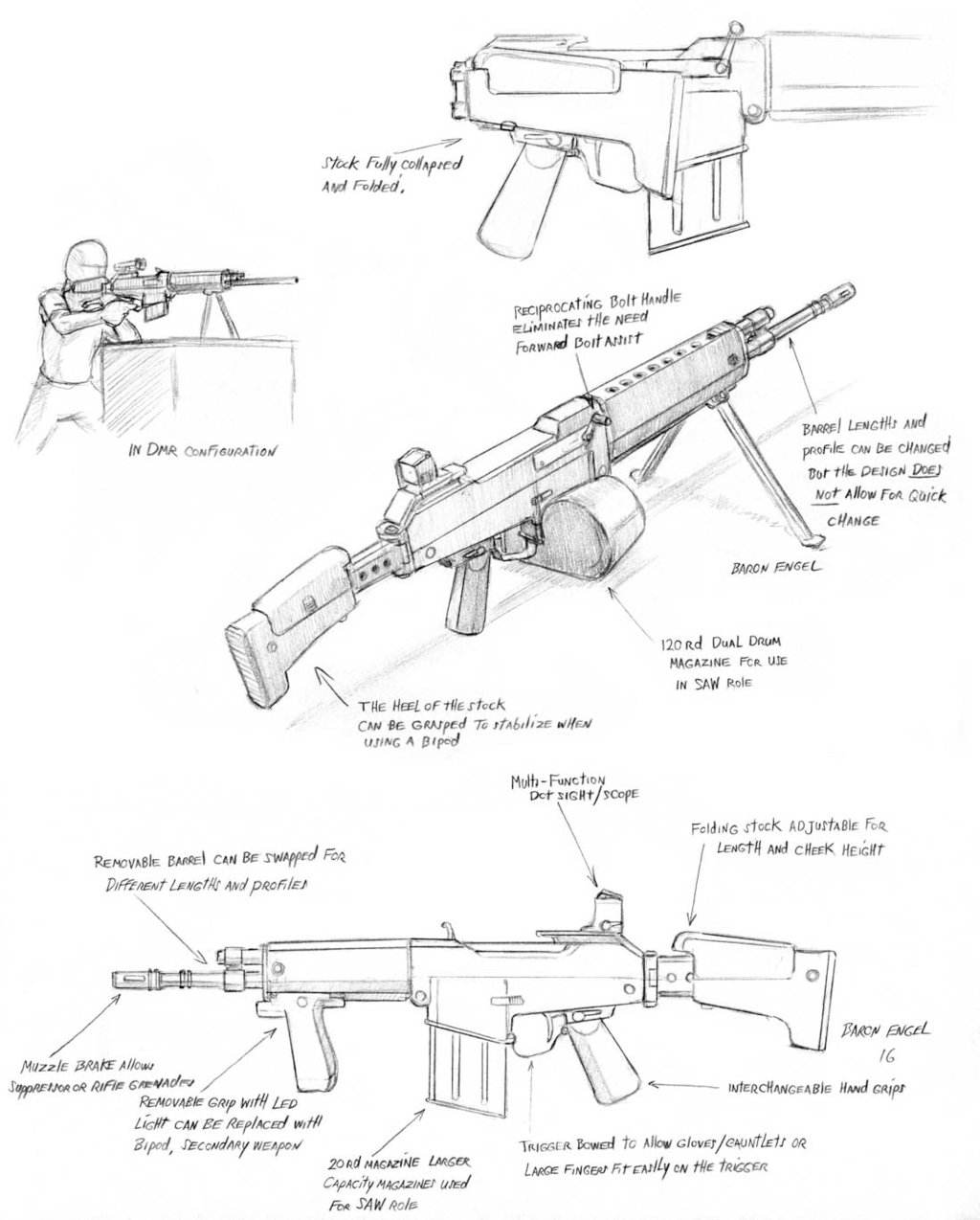 1024x1274 Commission Rifle Concept Design By Baron Engel