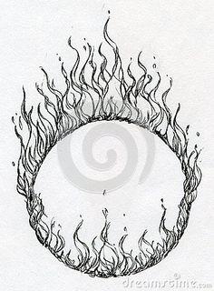 236x320 Hand Drawn Fire Ring Zeichnung Fire Ring, Hand