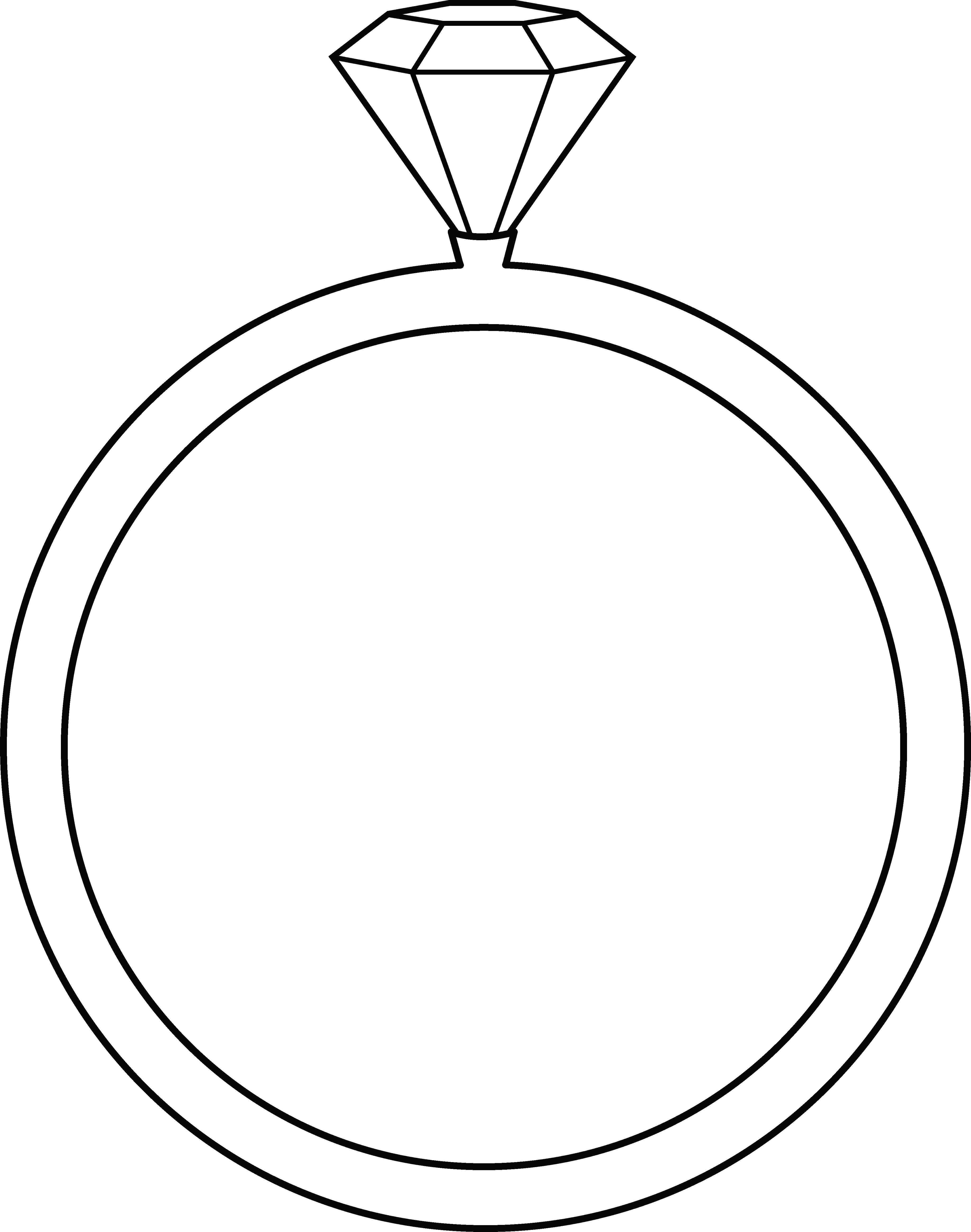 4098x5200 Big Diamond Ring Coloring Page Ring Of Fire Coloring Page