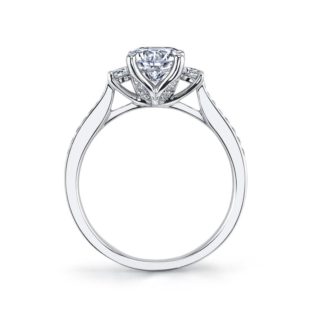1024x1024 Ladies 3 Stone Diamond Engagement Ring Pop Gems