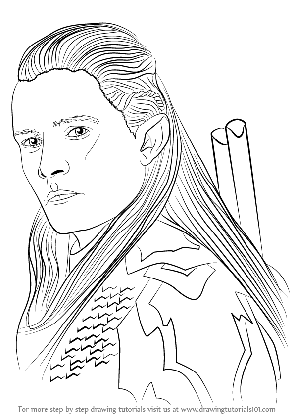 596x843 Learn How To Draw Legolas Form Lord Rings (Lord