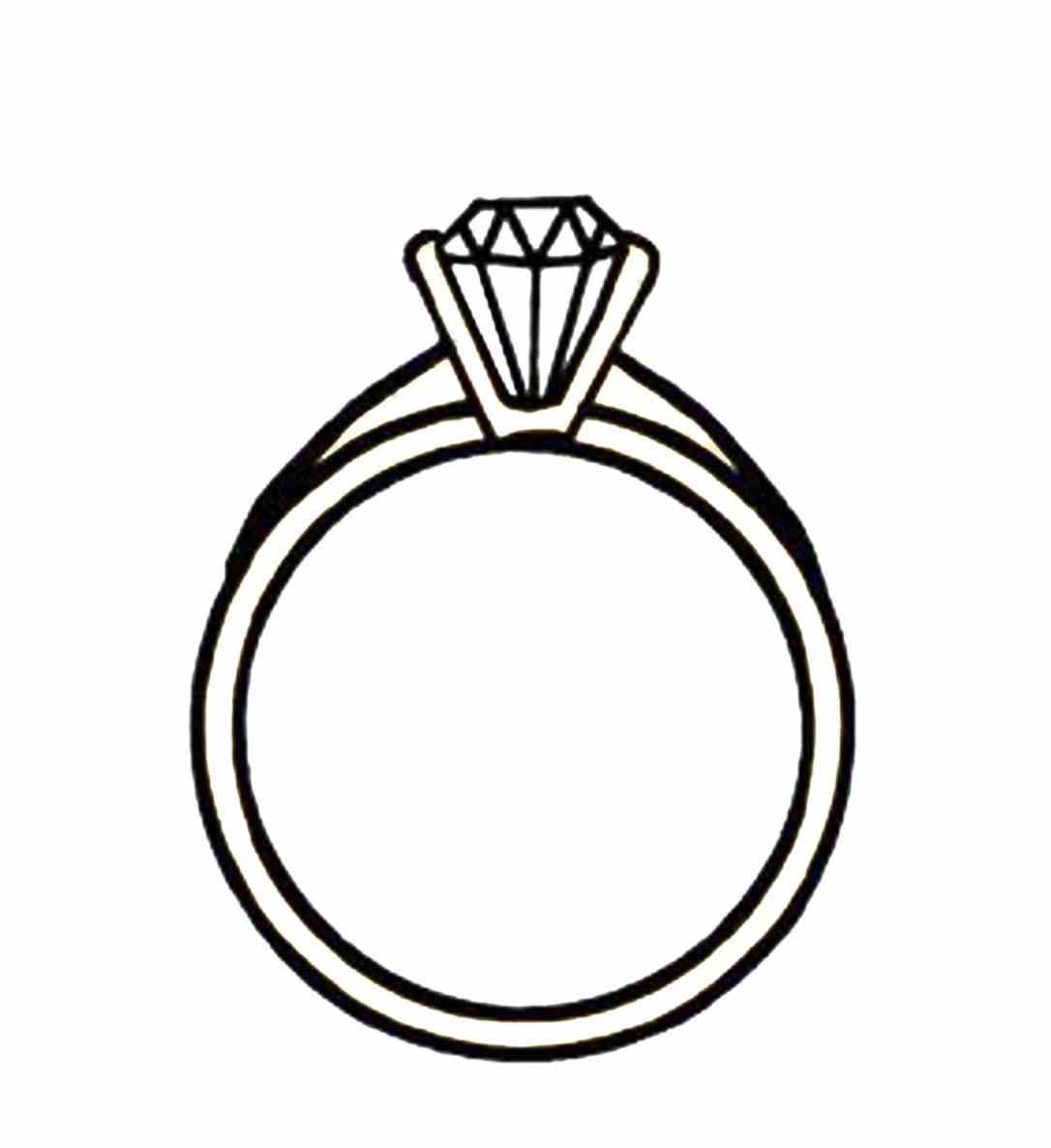1086x1185 And Color Ring Marriage Rings Drawing Clipart Two Pencil And