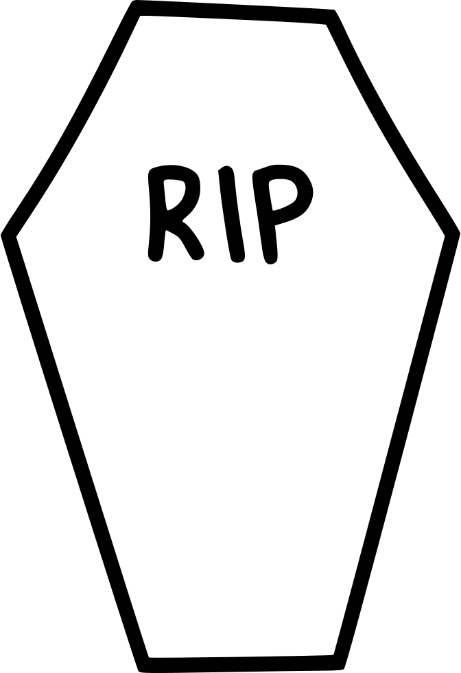 672x980 Coffin Casket Rip Death Funeral Svg Png Icon Free Download
