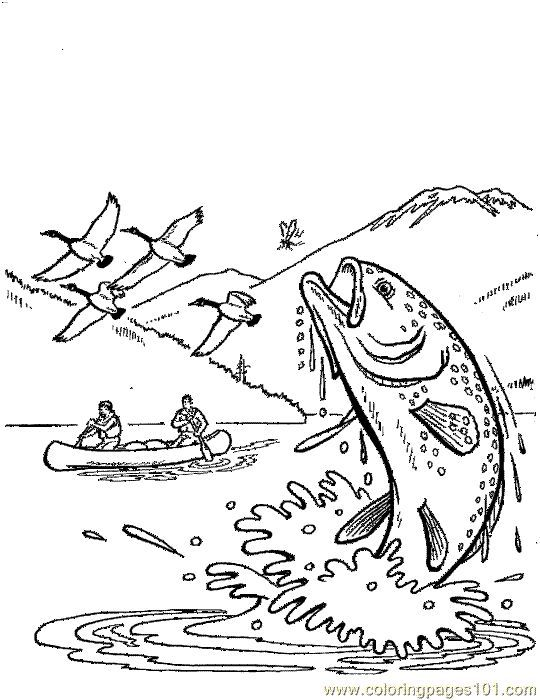 540x700 River Fish Coloring Pages Trout Coloring Pages For Pictures River