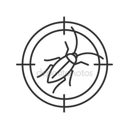 450x450 Cockroach Target Linear Icon Roach Repellent Pest Control Thin
