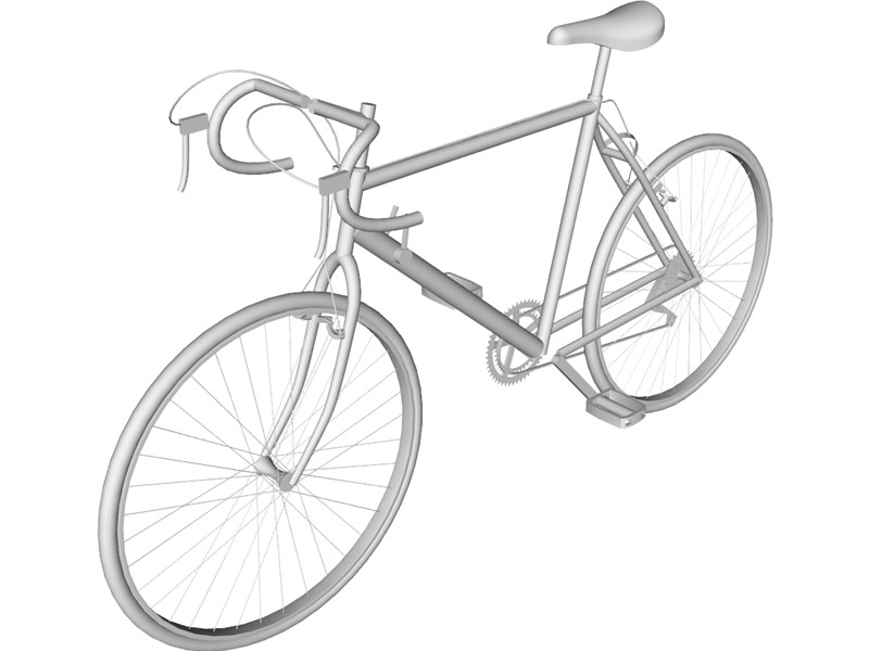 800x600 Bicycle Road 10 Speed 3d Model