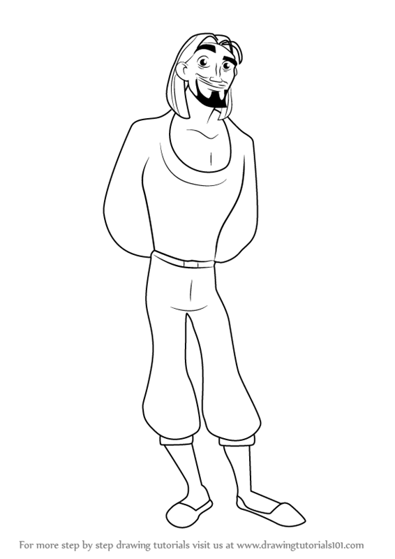 566x800 Learn How to Draw Miguel from The Road to El Dorado (The Road to
