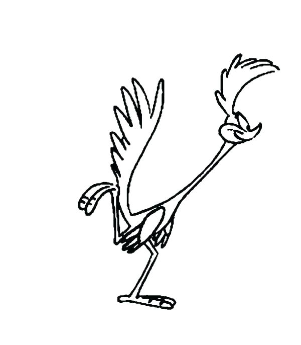 600x686 Road Runner Coloring Page Road Runner Coloring Page Roadrunner Is