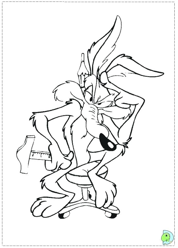 691x960 Wile E Coyote Coloring Pages Wile E Coyote Coloring Pages Coloring