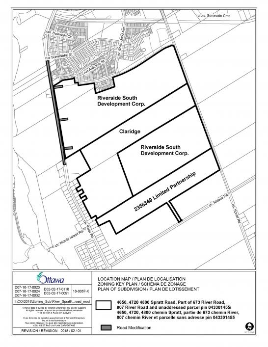 546x707 Riverside South Proposed Plan Of Subdivision Applications And Road