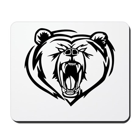 460x460 Grizzly Bear Roaring Office Supplies Office Decor, Stationery Amp More