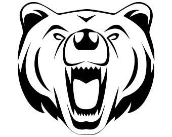 340x270 Bear Head Svg Etsy