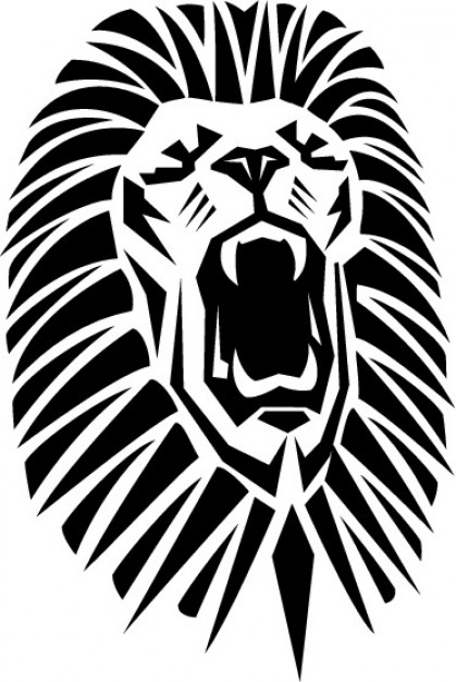 419x626 Lion Roaring With Opened Mouth Vector Free Download