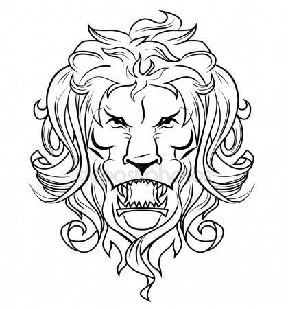 420x450 Lion Roaring Stock Vectors, Royalty Free Lion Roaring