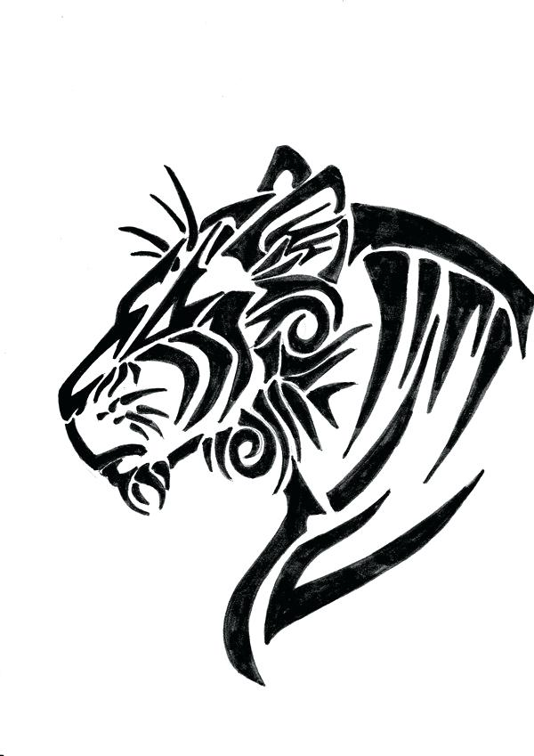 600x849 Cute Tiger Coloring Pages Tiger Eyes Tattoo Cartoon Tiger Coloring