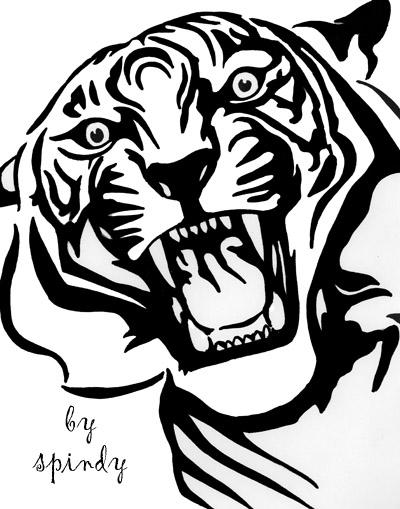 400x509 Tiger Roar By Spindy