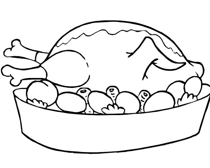 808x644 Roast Coloring Pages