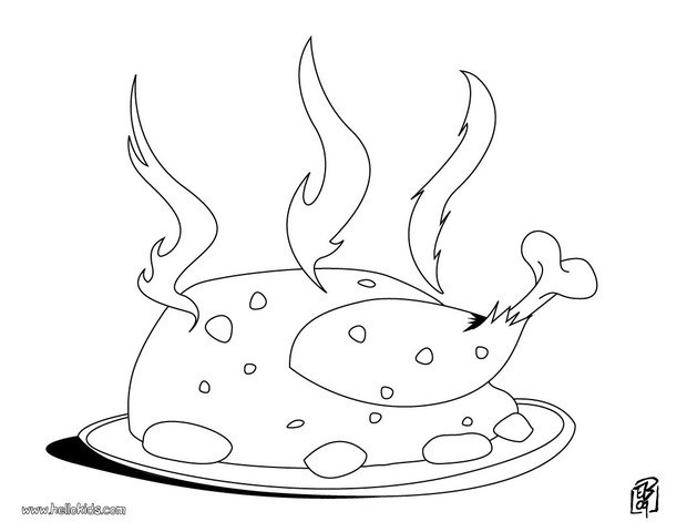 620x480 Cooked Chicken Coloring Page Image Clipart Images