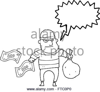 349x320 Freehand Drawn Cartoon Bank Robber Stock Vector Art Amp Illustration