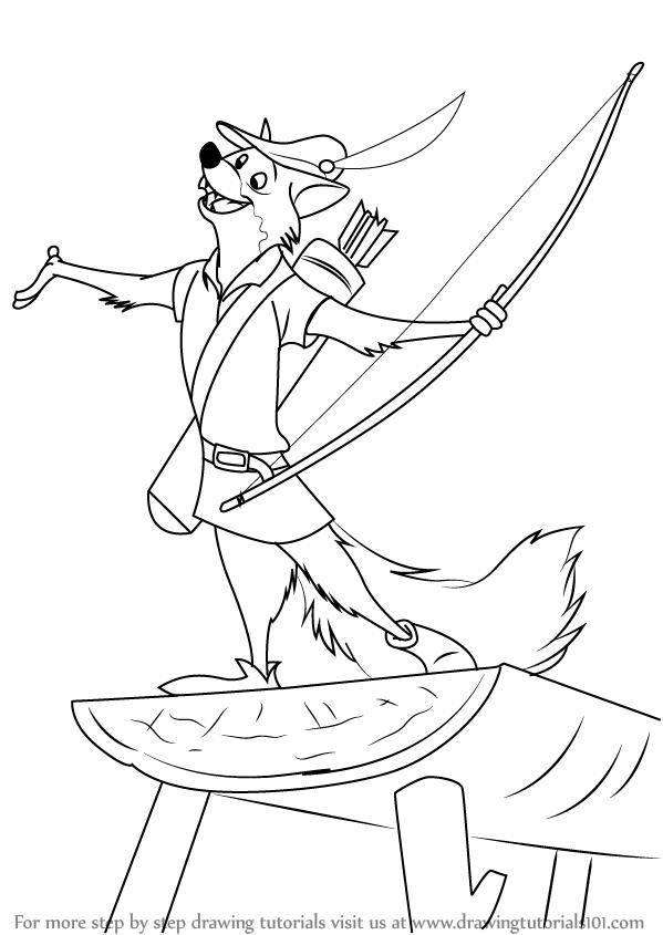 599x845 Learn How To Draw Robin The Fox From Robin Hood (Robin Hood) Step