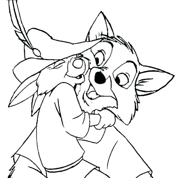 600x599 Robin Coloring Pages Hood Mischief In Page