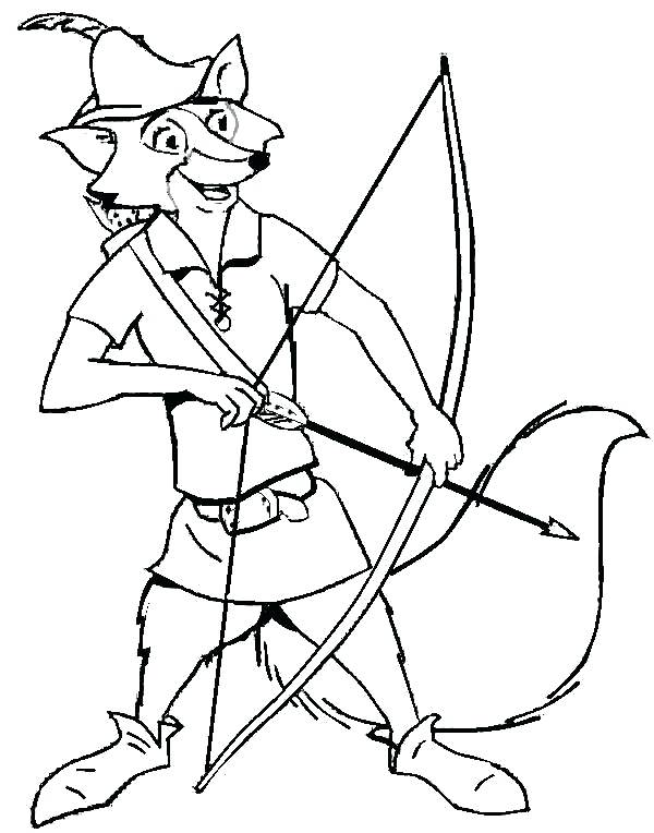 600x764 Robin Hood Coloring Pages Robin Hood Coloring Pages Robin Hood Fox