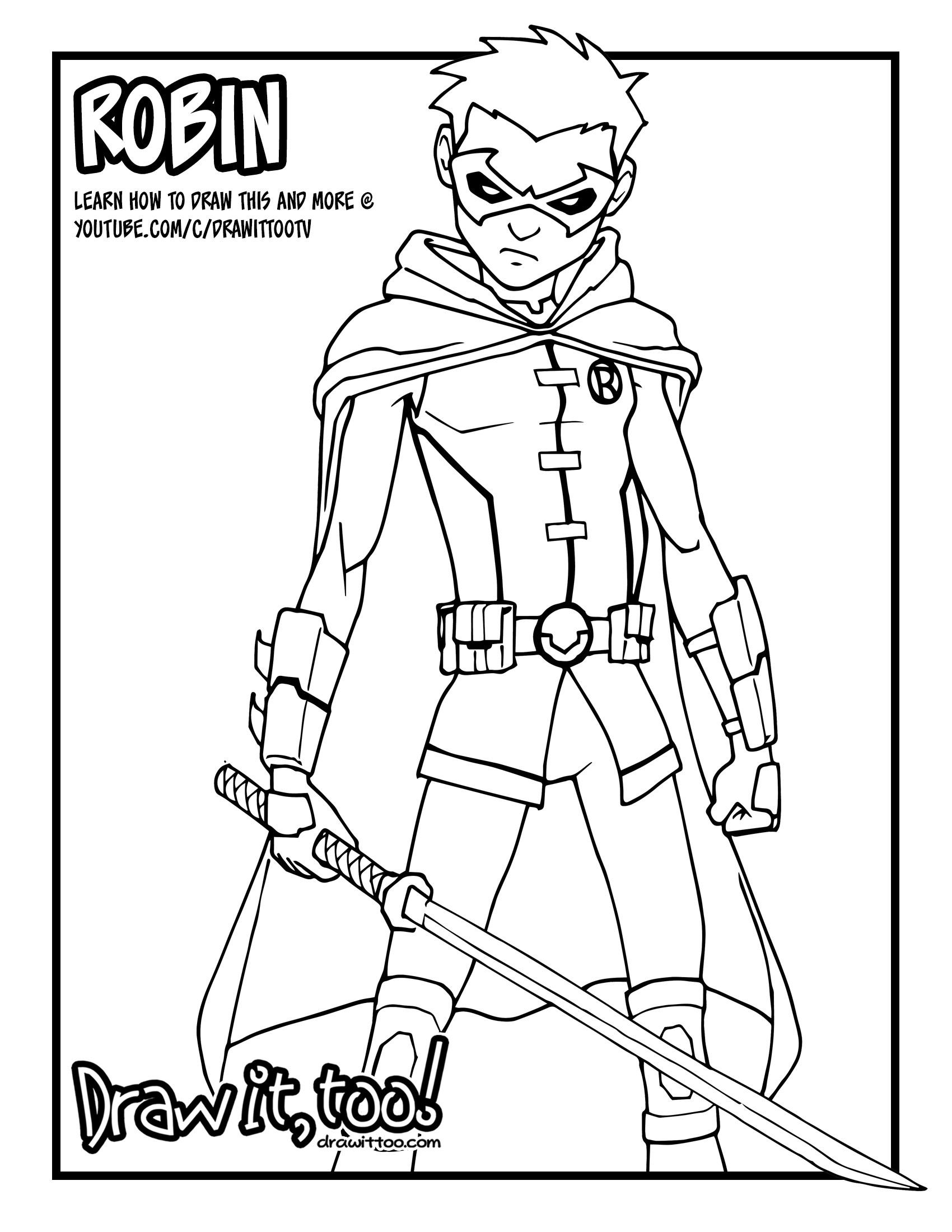 1700x2200 Damian Wayne Robin (Comic Version) Tutorial