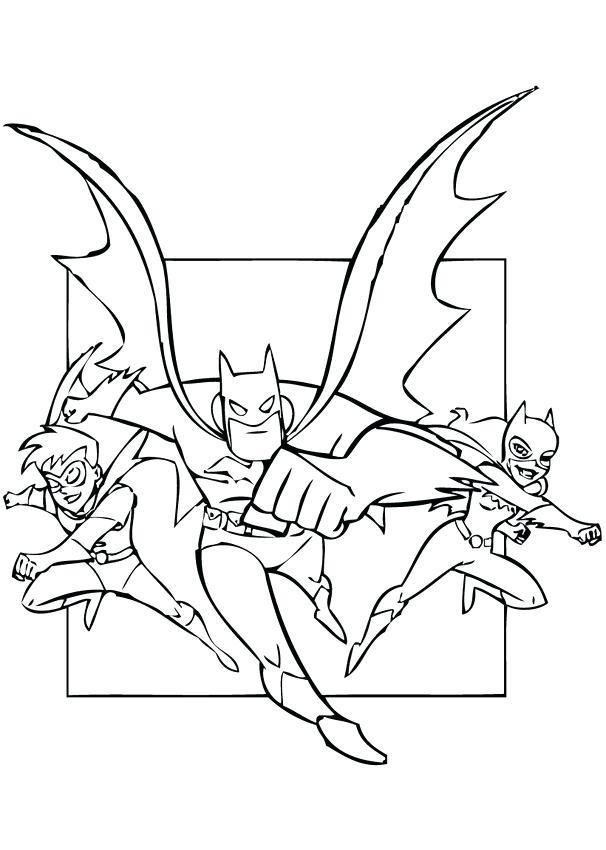 606x850 Pretty Robin Coloring Pages Print Superhero Batman Joker