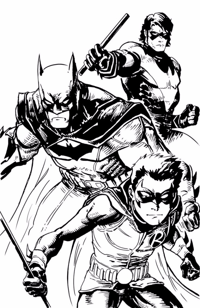 703x1080 And Robin Coloring Pages