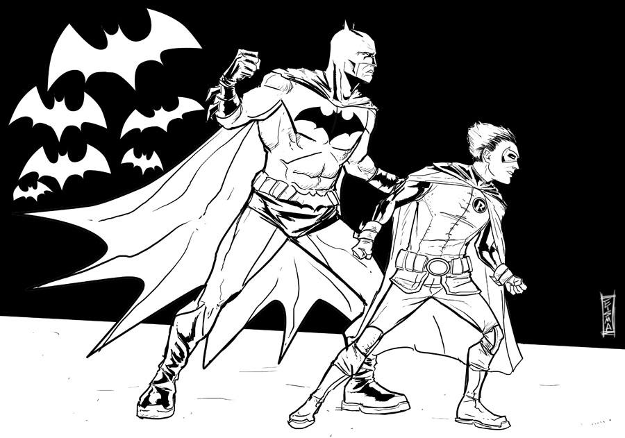 900x631 Batman And Robin By Supajoe