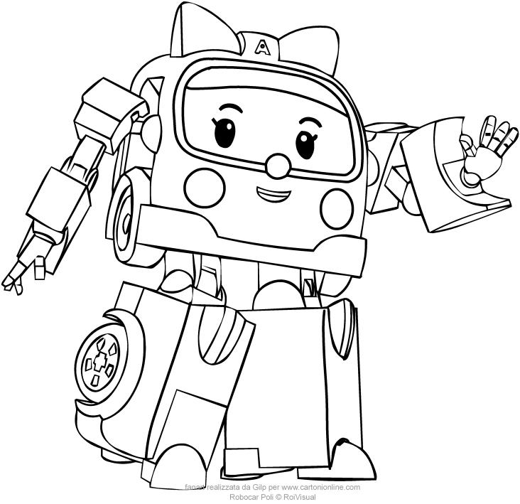 Robocar Poli Drawing