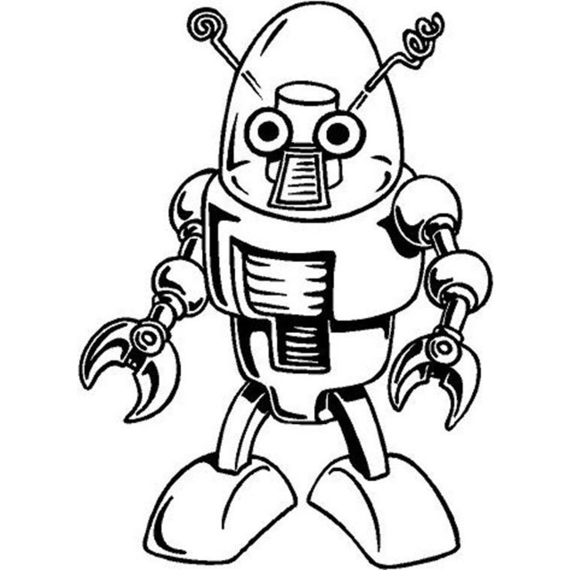 Robot Cartoon Drawing