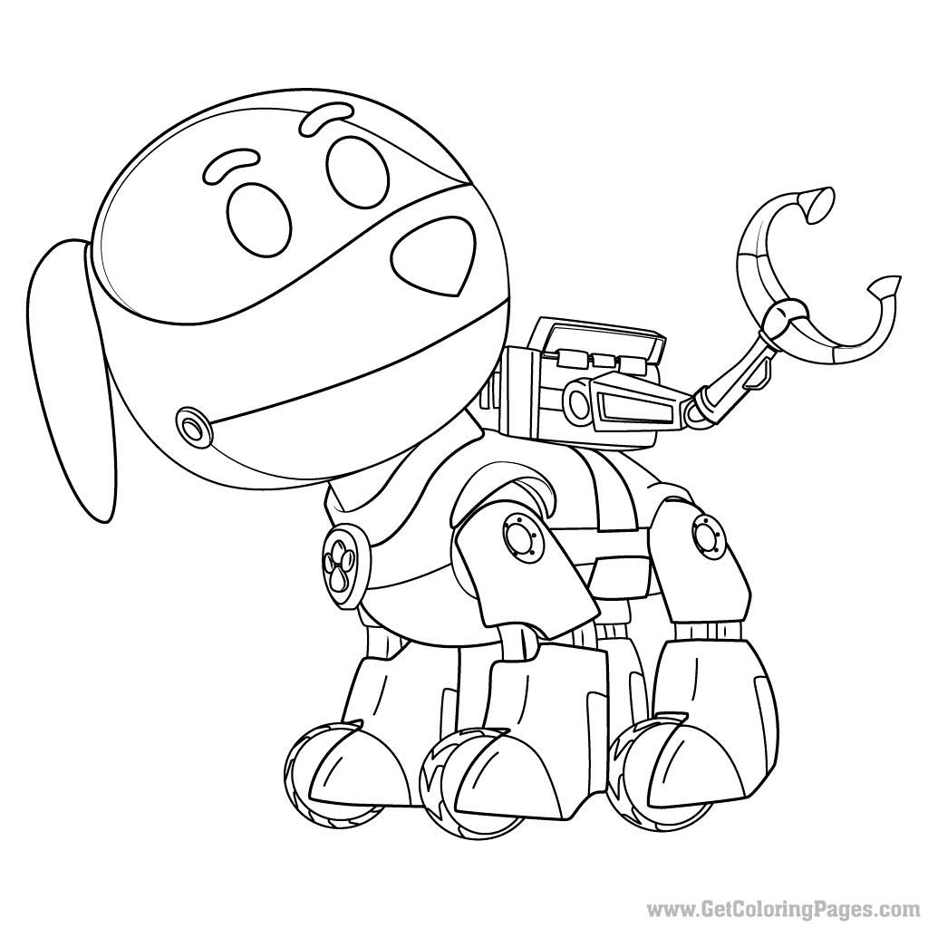 1024x1024 PAW Patrol Robo Dog Coloring Page Dog Robot