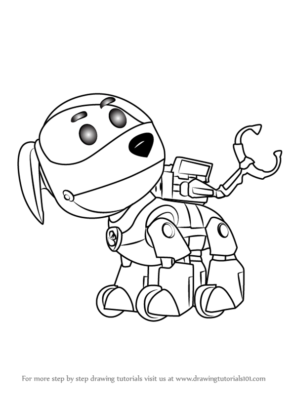 Robot Dog Drawing at GetDrawings Free for personal