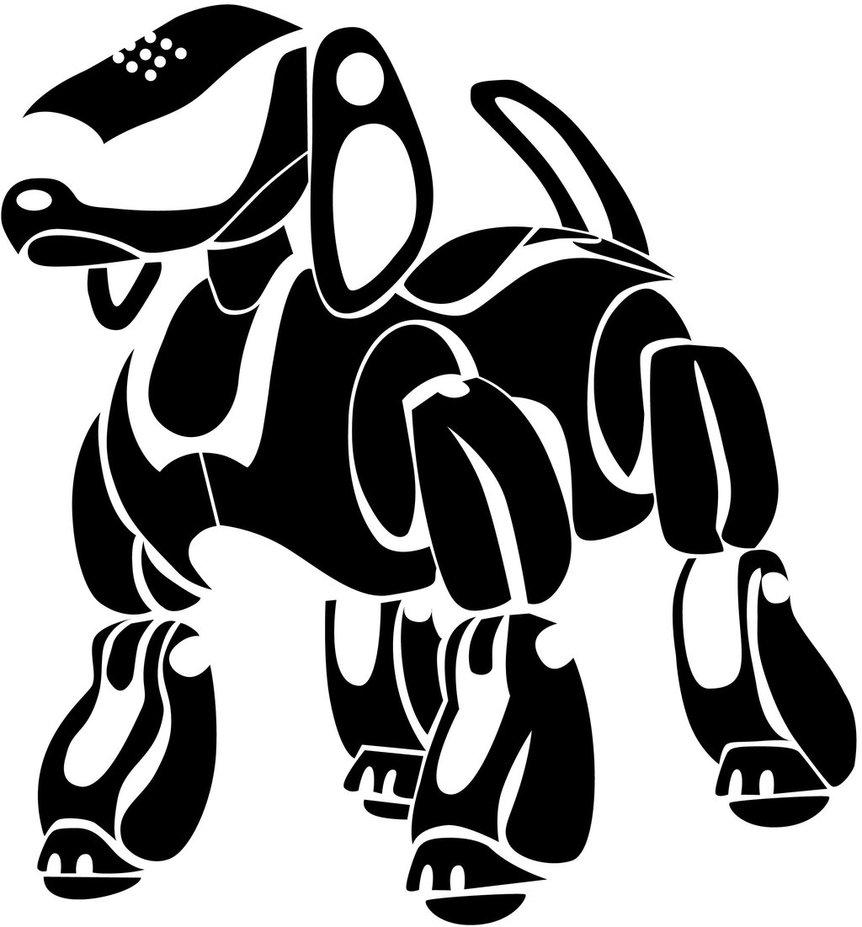 862x927 Sony Aibo Robot Dog By Mandalaverde