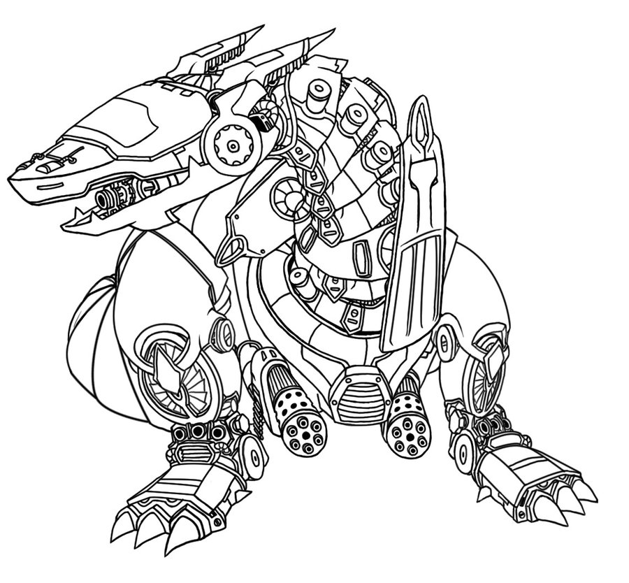 900x834 Mecha Dragon Lineart By Ayyk92