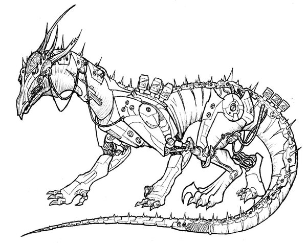 600x475 Robot Cyborg Mech Dragon By Erikdeprince