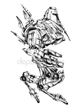 339x450 Robot Cyborg Art Drawing Fantasy Stock Photo Maxtor7777