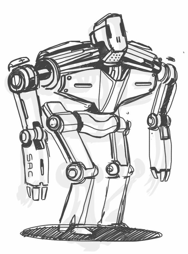 644x870 Sketch A Day 129 Robot Scribble Sketch A Day Sketches By
