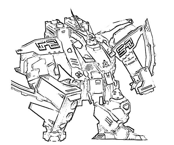 600x500 Sketch Of Combat Robot Coloring Pages Best Place To Color