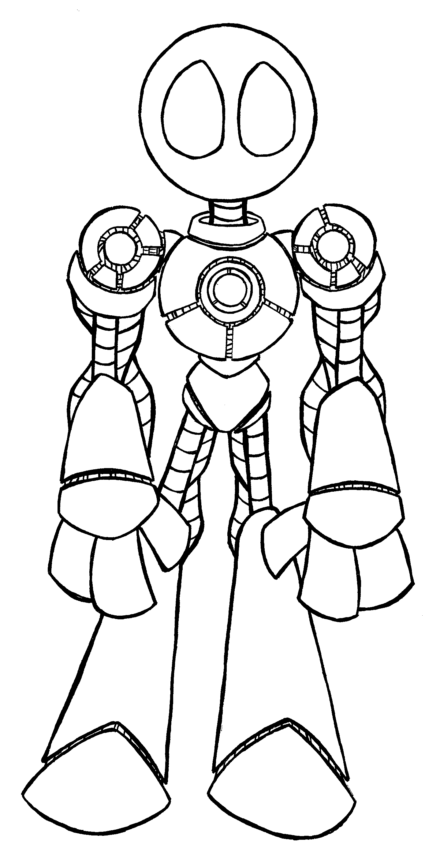 1438x2832 Drawing Of A Robot How To Draw A Robot For Kids Howtodrawforkids