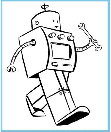 377x450 Art Thief Draw A Robot