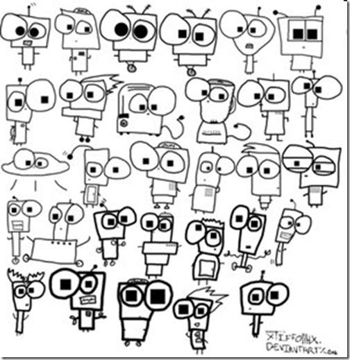 Robot Face Drawing