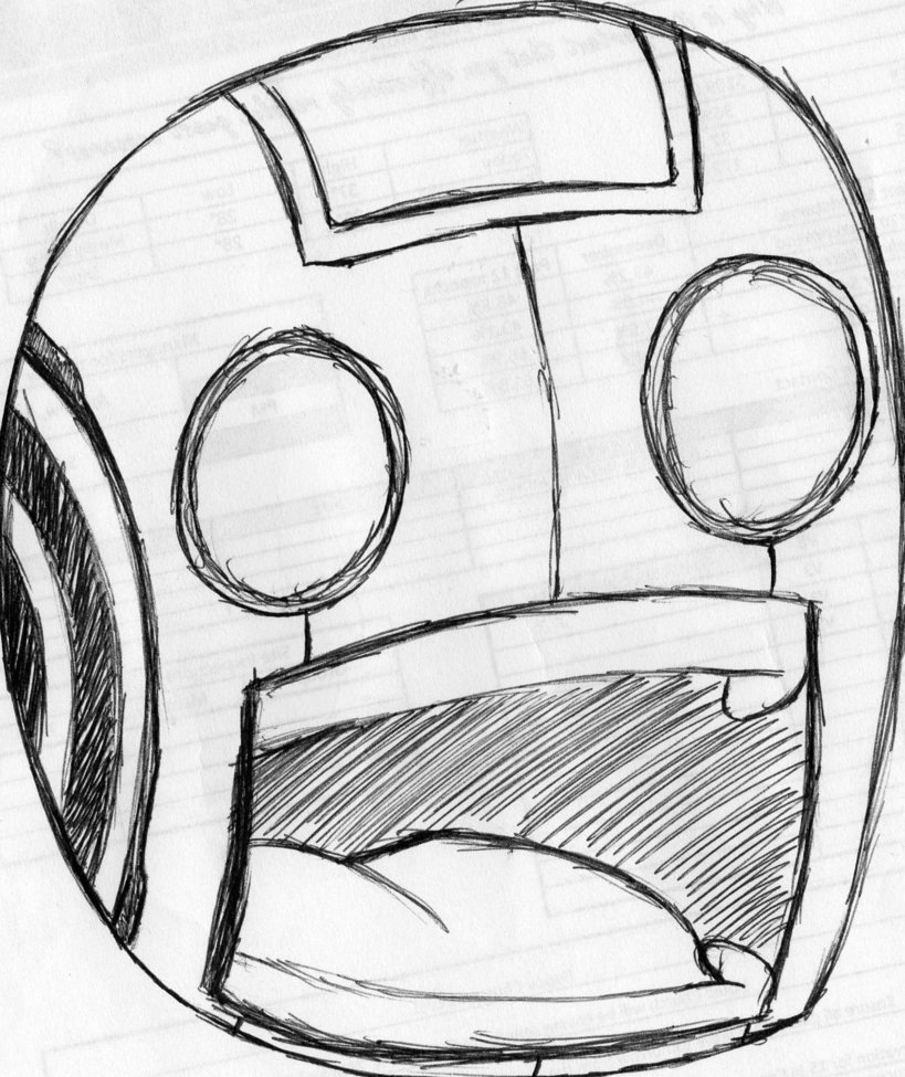 819x975 Robot Face By Wolferane88