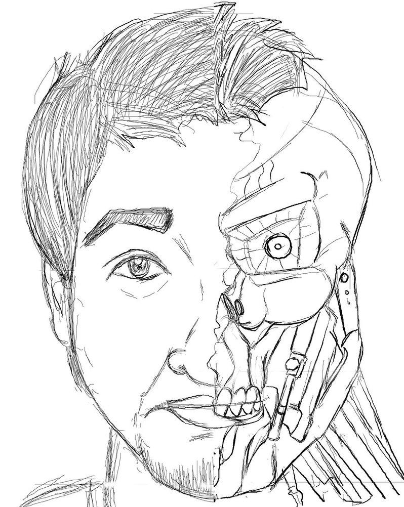 798x1002 Terminator Robot By Alifazal33