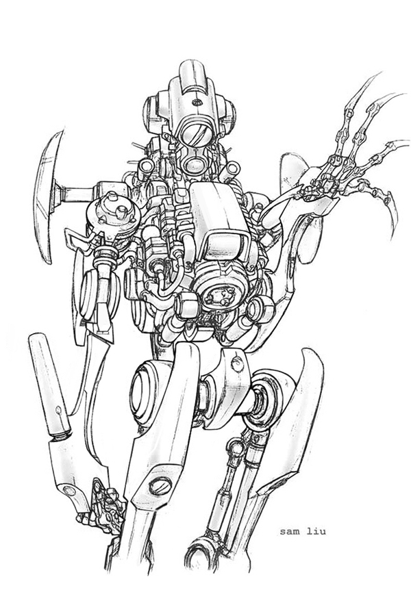 600x900 Robot Concept By Samliu