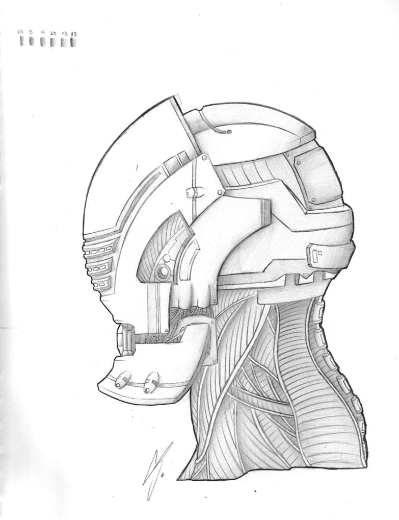 783x1019 Robot Head By Somethingneutral