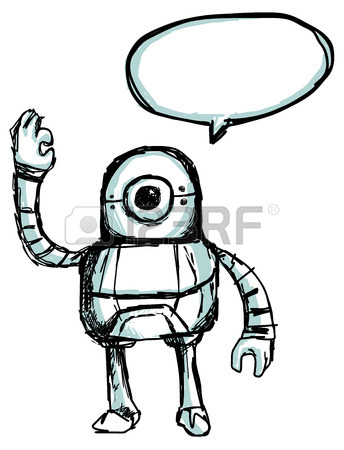 344x450 Robot Sketch Royalty Free Cliparts, Vectors, And Stock